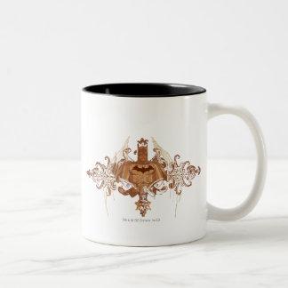Batman Bust with Flourishes Two-Tone Coffee Mug