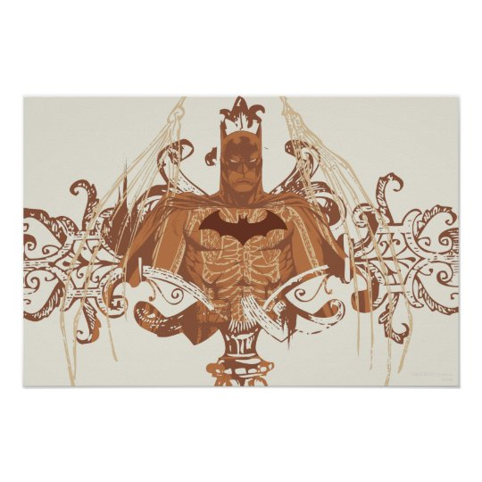 Batman Bust with Flourishes Poster