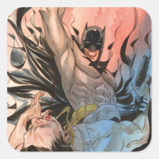 Batman - calles de la cubierta de Gotham #13 Calcomanías Cuadradass