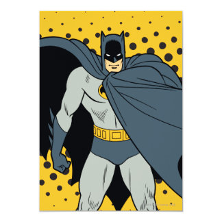 Batman Cape 5x7 Paper Invitation Card