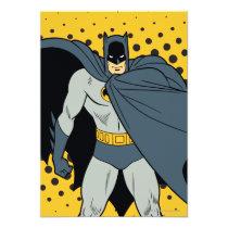 invitations, vintage, retro, batman cape, batman, bat man, 1966 batman, 60's batman, batman action callout, action words, fighting sound effect words, punching sounds, adam west, burt ward, batman tv show, batman cartoon graphics, super hero, classic tv show, Invitation with custom graphic design