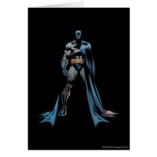 Batman cape over one side card