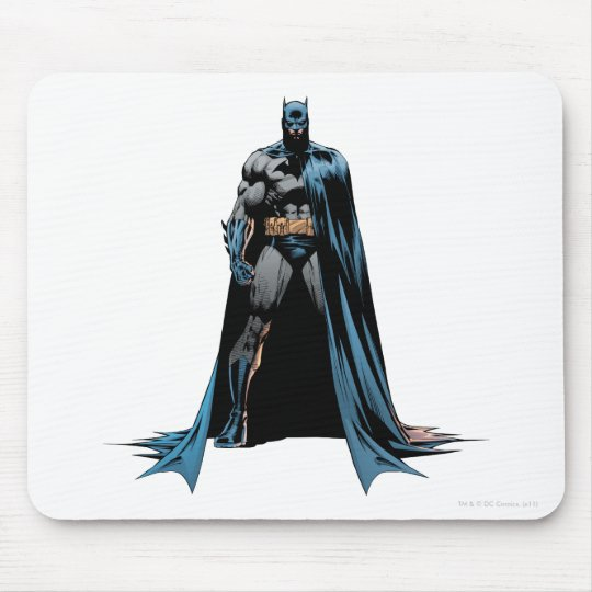 Batman cape over one side mouse pad
