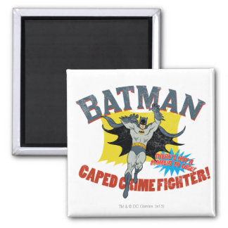 Batman Caped Crime Fighter 2 Inch Square Magnet