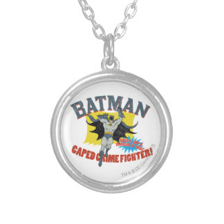 Batman Caped Crime Fighter Silver Plated Necklace