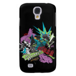 Batman Caped Crusader Neon Collage Samsung Galaxy S4 Case