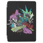 Batman Caped Crusader Neon Collage iPad Air Cover