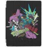 Batman Caped Crusader Neon Collage iPad Cover