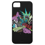 Batman Caped Crusader Neon Collage iPhone 5 Cover