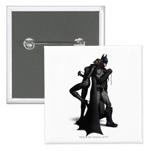 Batman & Catwoman Pinback Buttons
