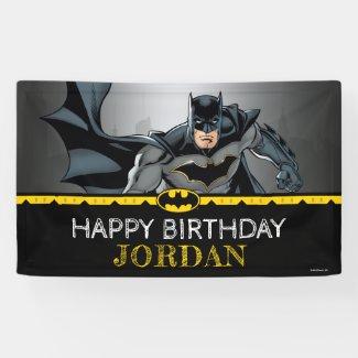 Batman | Chalkboard Happy Birthday Banner