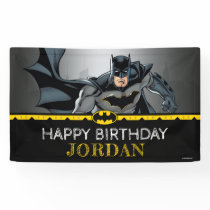 Batman | Chalkboard Happy Birthday Banner