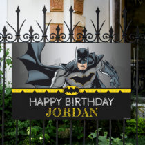 Batman   Chalkboard Happy Birthday Banner