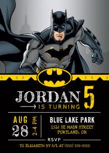 batman invitations zazzle