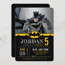 Batman   Chalkboard Happy Birthday Invitation
