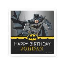 Batman   Chalkboard Happy Birthday Napkins