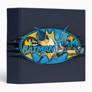 Batman Classic Logo Collage 3 Ring Binders
