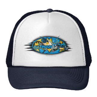Batman Classic Logo Collage Mesh Hat