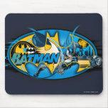 Batman Classic Logo Collage Mouse Pad