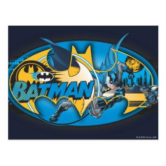 Batman Classic Logo Collage Postcard