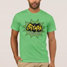 Batman Classic Tv Series Logo T-shirt at Zazzle