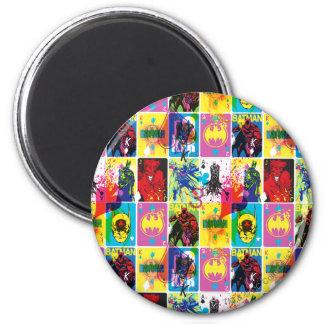 Batman Color Code Pattern 2 2 Inch Round Magnet