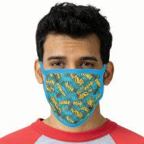 Batman Comic Capers Pattern 1 Face Mask