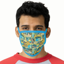 Batman Comic Capers Pattern 2 Face Mask