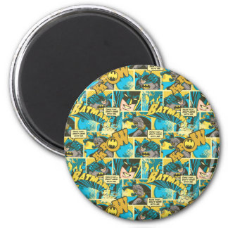 Batman Comic Capers Pattern 2 2 Inch Round Magnet