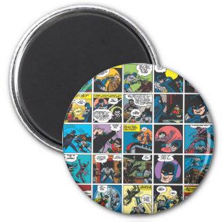 Batman Comic Panel 5x5 2 Inch Round Magnet