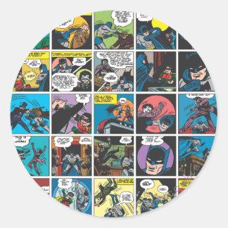 Batman Comic Panel 5x5 Classic Round Sticker