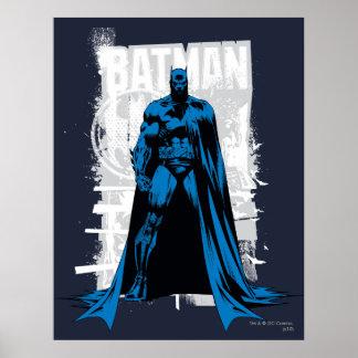 Batman Comic - Vintage Full View Print