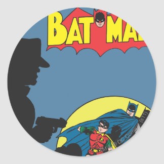 Batman Comic - with Robin Classic Round Sticker