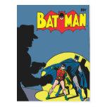 Batman cómico - con el petirrojo postal