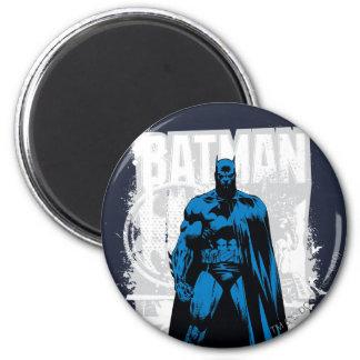 Batman cómico - vintage a la vista imán redondo 5 cm