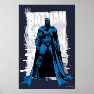 Batman cómico - vintage a la vista poster