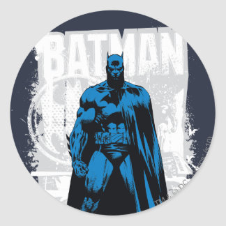Batman cómico - vintage a la vista pegatina redonda
