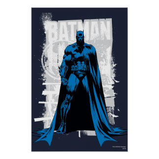 Batman cómico - vintage a la vista póster