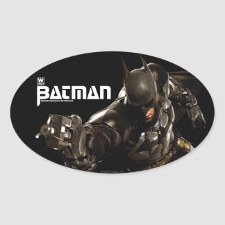 Batman con Batclaw Pegatina Ovalada