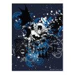 Batman con el collage de Knotwork Postal