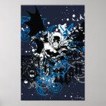 Batman con el collage de Knotwork Póster
