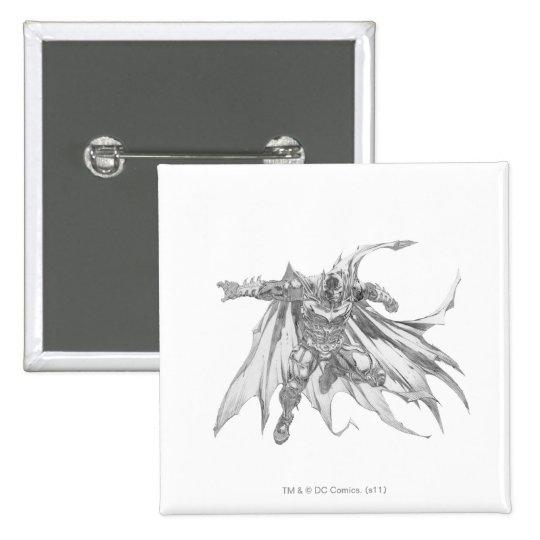 Batman con el dibujo del cabo pin cuadrado