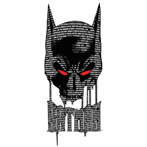 Batman con mantra fotoescultura vertical