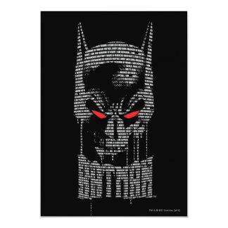 """Batman con mantra invitación 5"""" x 7"""""""
