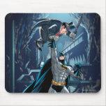 Batman contra pingüino alfombrilla de ratón