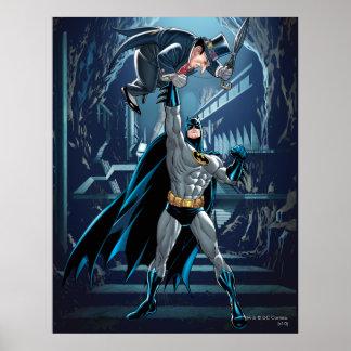 Batman contra pingüino impresiones