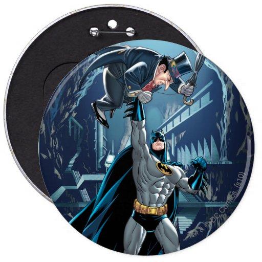 Batman contra pingüino pin
