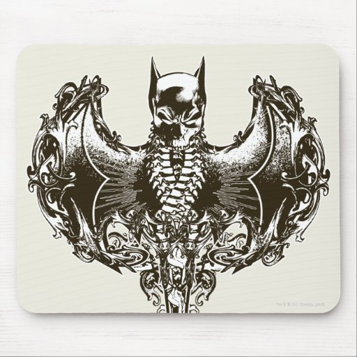 Batman Cowl and Skull Crest Mouse Pad