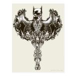 Batman Cowl and Skull Crest Postcard