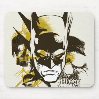 Batman Cowl and Skulls Mouse Pad